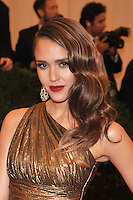 Jessica Alba at the 'Schiaparelli And Prada: Impossible Conversations' Costume Institute Gala at the Metropolitan Museum of Art on May 7, 2012 in New York City. ©mpi03/MediaPunch Inc.