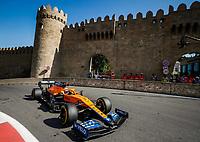 4th June 2021; Baku, Azerbaijan; Free practise sessions;   03 RICCIARDO Daniel aus, McLaren MCL35M, action during the Formula 1 Azerbaijan Grand Prix 2021 at the Baku City Circuit, in Baku, Azerbaijan
