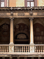 Istituti Universitari, Gymnasivm Omnivm Disciplinarvm, Padua, Italy, University of Padua, coates of arms, founded 1222, first anatomy theater opened here in 1594, Galileo Galilei taught her from 1592 to 161