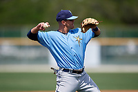 Tampa Bay Rays Michael Brosseau (87) during a minor league Spring Training game against the Baltimore Orioles on March 29, 2017 at the Buck O'Neil Baseball Complex in Sarasota, Florida.  (Mike Janes/Four Seam Images)