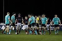 Rory Brand of London Scottish shows exasperation during the Greene King IPA Championship match between London Scottish Football Club and Nottingham Rugby at Richmond Athletic Ground, Richmond, United Kingdom on 7 February 2020. Photo by Carlton Myrie.