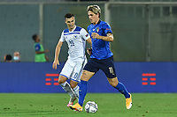 Amer Gojak of Bosnia and Nicolo Zaniolo of Italy during the Uefa Nation League Group Stage A1 football match between Italy and Bosnia at Artemio Franchi Stadium in Firenze (Italy), September, 4, 2020. Photo Massimo Insabato / Insidefoto