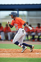 GCL Astros right fielder Wilson Amador (39) at bat during a game against the GCL Nationals on August 14, 2016 at the Carl Barger Baseball Complex in Viera, Florida.  GCL Nationals defeated GCL Astros 8-6.  (Mike Janes/Four Seam Images)