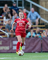 NEWTON, MA - AUGUST 29: Anna Heilferty #27 of Boston University controls the ball during a game between Boston University and Boston College at Newton Campus Field on August 29, 2019 in Newton, Massachusetts.