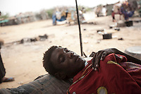 Tuesday 07 July, 2015: A displaced man from the heavy fighting in Haradh bordertown is seen in a temporary settlement at the outskirts of Beni Hassan in Hajjah province, Northwest of Yemen. (Photo/Narciso Contreras)