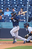 Lakeland Flying Tigers Jose De La Cruz (35) bats during a game against the Tampa Tarpons on June 1, 2021 at George M. Steinbrenner Field in Tampa, Florida.  (Mike Janes/Four Seam Images)