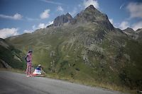 waiting up the Col de Glandon (HC/1924m/21.7km@5.1%)<br /> <br /> stage 18: Gap - St-Jean-de-Maurienne (187km)<br /> 2015 Tour de France