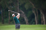 Lucas Bjerregaard of Denmark hits the ball during Hong Kong Open golf tournament at the Fanling golf course on 25 October 2015 in Hong Kong, China. Photo by Xaume Olleros / Power Sport Images