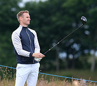 7th July 2021; North Berwick, East Lothian, Scotland; BBC Sports Presenter Dan Walker on the 7th tee during the Celebrity Pro-Am at the abrdn Scottish Open at The Renaissance Club, North Berwick, Scotland.