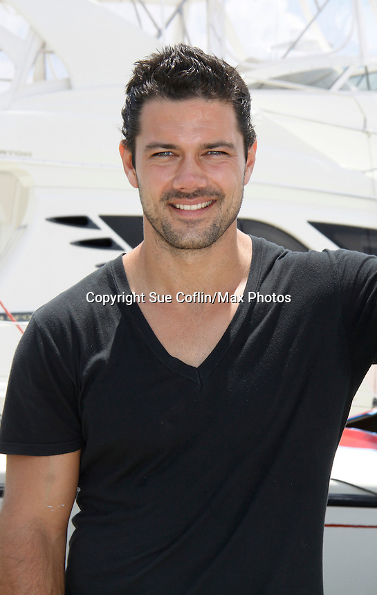 Ryan Paevey - General Hospital - Actors from Y&R, Days and General Hospital donated their time to Southwest Florida 16th Annual SOAPFEST and during the weekend took a break to chill on one of the boats to see dolphins and to swim off Marco Island, Florida on May 23, 2015 - a celebrity weekend May 22 thru May 25, 2015 benefitting the Arts for Kids and children with special needs and ITC - Island Theatre Co.  (Photos by Sue Coflin/Max Photos)