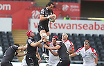8 September 2012; Jonathan Thomas wins the line out ball..Celtic League, Round 2, Ospreys v Ulster, Liberty Stadium, Swansea, Wales. Picture credit: Steve Pope / SPORTSFILE