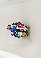 4 December 2015: Christian Oberstolz and Patrick Gruber, sliding for Italy, bank into a turn on their first run of the Doubles Competition during the Viessmann Luge World Cup Series at the Olympic Sports Track in Lake Placid, New York, USA. Mandatory Credit: Ed Wolfstein Photo *** RAW (NEF) Image File Available ***