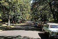 St. Louis: Lenox Place--tree-lined streets. Photo '78.