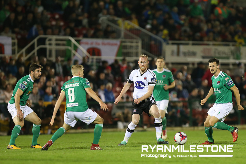 Chris Shields of Dundalk during the SSE Airtricity League Premier Division game between Cork City and Dundalk on Friday 21st September 2018 at Turners Cross, Cork. Photo By Michael P Ryan