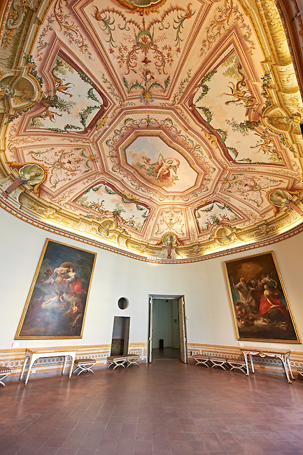 State Room of the Kings of Naples Royal Palace of Caserta, Italy. A UNESCO World Heritage Site