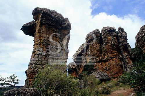Parana, Brazil. Natural rock formations at Vila Velha State Park.