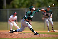 Michigan State Spartans relief pitcher Josh Buchalski (25) delivers a pitch during a game against the Illinois State Redbirds on March 8, 2016 at North Charlotte Regional Park in Port Charlotte, Florida.  Michigan State defeated Illinois State 15-0.  (Mike Janes/Four Seam Images)