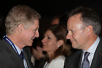 Montreal, CANADA.<br /> Paul Desmarais Junior (L) and  Steppen Poloz (R)<br /> <br /> attend the International Economic Forum of the Americas 20th Edition, from June 9-12, 2014 <br /> <br />  Photo : Agence Quebec Presse - Pierre Roussel