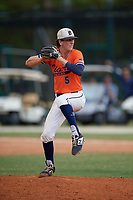 Shane Reynolds (5) during the WWBA World Championship at the Roger Dean Complex on October 12, 2019 in Jupiter, Florida.  Shane Reynolds attends Prestonwood Christian Academy in Plano, TX and is Uncommitted.  (Mike Janes/Four Seam Images)