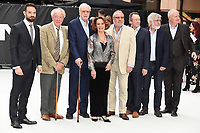 """Charlie Cox, Sir Michael Gambon, Sir Michael Caine, Francesca Annis, Ray Winstone,  Sir Tom Courtenay and Jim Broadbent<br /> at the World Premiere of  """"King of Thieves"""", Vue Cinema Leicester Square, London<br /> <br /> ©Ash Knotek  D3429  12/09/2018"""