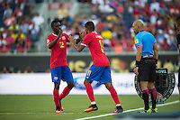 Orlando, Florida - Saturday, June 04, 2016: Costa Rican midfielder Joel Campbell (12) is substituted for Costa Rican midfielder Johan Venegas (10) during a Group A Copa America Centenario match between Costa Rica and Paraguay at Camping World Stadium.