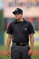Umpire Ben Fernandez before a Florida State League game between the Jupiter Hammerheads and Florida Fire Frogs on April 8, 2019 at Osceola County Stadium in Kissimmee, Florida.  Florida defeated Jupiter 7-6 in ten innings.  (Mike Janes/Four Seam Images)