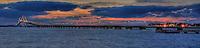 A panoramic image of Newport bridge