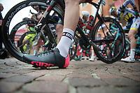 2013 Giro d'Italia.stage 13: Busseto - Cherasco ..Taylor Phinney's (USA) custome pink Giro Giro's