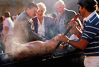 Greek lamb roasting
