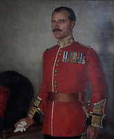 Sir Ralph Anstruther, Comptroller of the Queen Mother's household, in the uniform of the Coldstream Guards