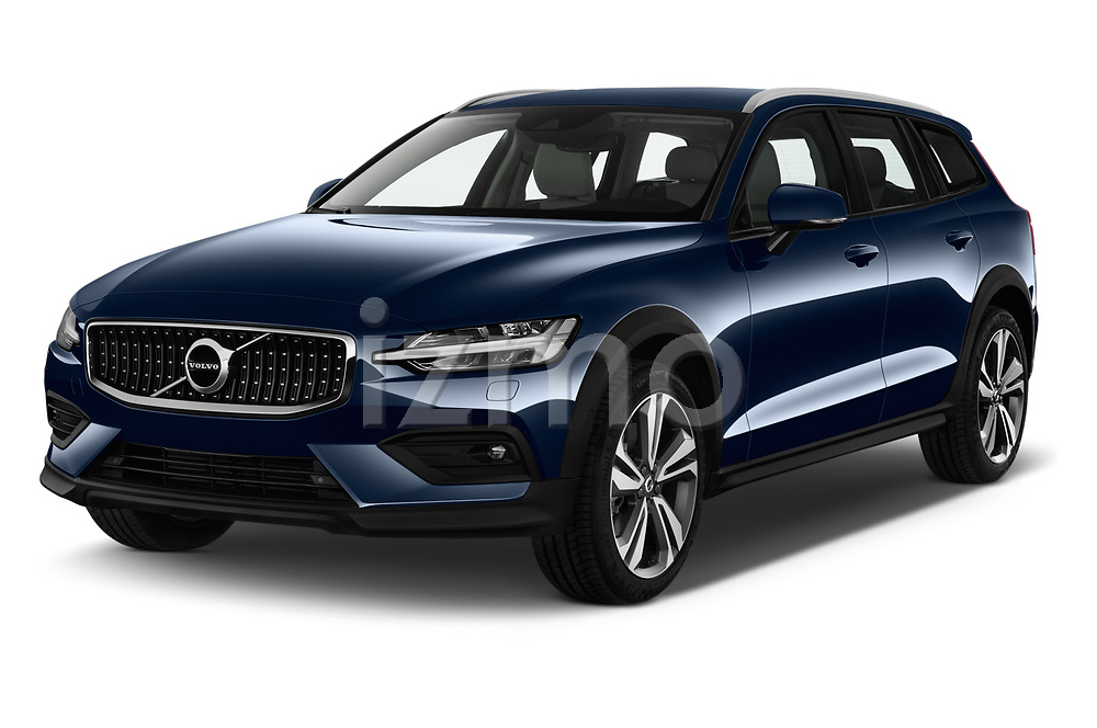 2019 Volvo V60-Crosscountry - 5 Door Wagon Angular Front stock photos of front three quarter view