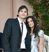 TAMPA - FL - JANUARY 31; Actor Ashton Kutcher and wife Actress Demi Moore  host the giving back fund's super bowl party big game event at a private residence in Tampa, Florida on January 31, 2009<br /> <br /> People:  Ashton Kutcher, Demi Moore