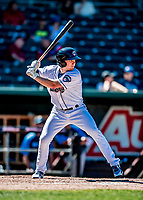 18 July 2018: New Hampshire Fisher Cats outfielder Andrew Guillotte in action against the Trenton Thunder at Northeast Delta Dental Stadium in Manchester, NH. The Fisher Cats defeated the Thunder 3-2 in a 7-inning, second game of the day. Mandatory Credit: Ed Wolfstein Photo *** RAW (NEF) Image File Available ***
