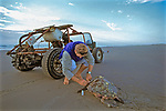 J. Nichols Taking Skin Sample Of Dead Loggerhead Sea Turtle