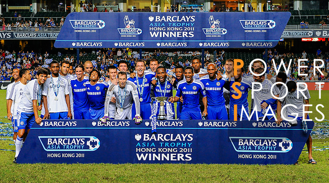 Players of Chelsea celebrates after winning the Asia Trophy final match against Aston Villa at the Hong Kong Stadium on July 30, 2011 in So Kon Po, Hong Kong. Photo by Victor Fraile / The Power of Sport Images