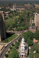AJ3502, Hartford, Connecticut, Aerial view of Hartford in the state of Connecticut.