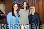 Joanne Courtney Scanlon, Sandra O'Mahoney and Deirdre Finn all Castlegregory attending the MUNDY concert in O'Riadas on Saturday.