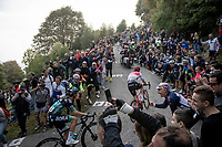 Giulio Ciccone (ITA/Trek-Segafredo) up the infamous Muro di Sormano (avg 17%/max 25%)<br /> <br /> 113th Il Lombardia 2019 (1.UWT)<br /> 1 day race from Bergamo to Como (ITA/243km)<br /> <br /> ©kramon