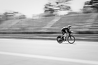 Rory Sutherland (AUS/Movistar) out on the Autodromo Nazionale (Monza Race Circuit) for the closing time trial into Milano<br /> <br /> stage 21: Monza - Milano (29km)<br /> 100th Giro d'Italia 2017