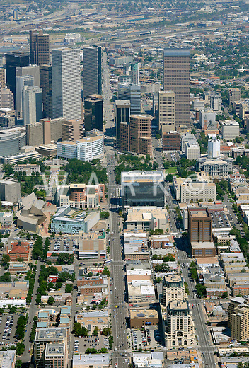 Downtown Denver aerial.  Aug 2013. 81436