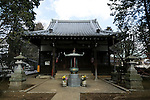 A general view of Goutoku Temple on January 26, 2016 in Tokyo, Japan. The temple and the surrounding area is well known for its massive collection of Maneki-Neko, literally beckoning cats. The cats  are a common Japanese charm thought to bring good luck to the owner. They are often displayed at the entrance to shops and restaurants but Goutoku Temple goes one further and displays over 1000 cats throughout its ground. (Photo by Rodrigo Reyes Marin/AFLO)