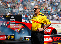 Mar 16, 2018; Gainesville, FL, USA; Todd Smith crew chief for NHRA funny car driver J.R. Todd during qualifying for the Gatornationals at Gainesville Raceway. Mandatory Credit: Mark J. Rebilas-USA TODAY Sports