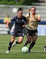 Washington Freedom forward Lisa De Vanna (17) versus FC Gold Pride defender Kristen Graczyk (13).   Washington Freedom defeated FC Gold Pride 3-1at the Maryland SoccerPlex, Sunday May 31, 2009.