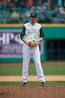 Fort Wayne TinCaps starting pitcher Jerry Keel (33) gets ready to deliver a pitch during a game against the Wisconsin Timber Rattlers on May 10, 2017 at Parkview Field in Fort Wayne, Indiana.  Fort Wayne defeated Wisconsin 3-2.  (Mike Janes/Four Seam Images)
