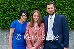 Chloe McDonnell who made her confirmation last Thursday in St Brendan's Church, Clogher pictured her with her parents Elaine and David (Ballymac).