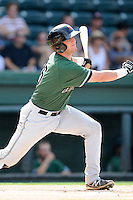 Catcher Ty Ross (26) of the Augusta GreenJackets bats in a game against the Greenville Drive on Sunday, July 13, 2014, at Fluor Field at the West End in Greenville, South Carolina. Greenville won, 8-5. (Tom Priddy/Four Seam Images)