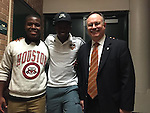 Houston Dynamo Boniek Garcia visits Sharpstown HS