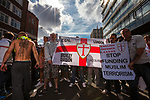 © Joel Goodman - 07973 332324 . 03/09/2011 . London , UK . The English Defence League hold a rally in Aldgate, near Tower Hamlets in East London. The group had intended to march however the Home Secretary banned all marches in the area. Photo credit : Joel Goodman