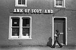 Lerwick Shetland islands Bank of Scotland. 1970s