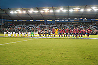 KANSAS CITY, KS - JULY 15: Martinique and USMNT starting line up's during a game between Martinique and USMNT at Children's Mercy Park on July 15, 2021 in Kansas City, Kansas.
